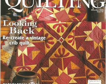 Better Homes and Gardens American Patchwork & Quilting Magazine December 2000