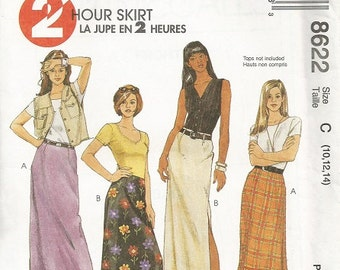 McCall's 8622 2 Hour Skirt Pattern SZ 12-14