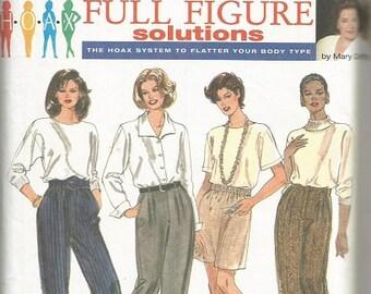 Simplicity 9712 Full Figure Pants Pattern SZ 18-24W