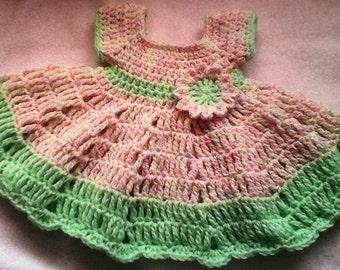 PRETTY SPRING DRESS Size 0 -3 mos