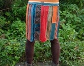 Upcycled Stripe Sweater And T-shirt Skirt