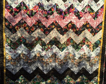 Over Hill and Dale Quilt pattern, chevron style