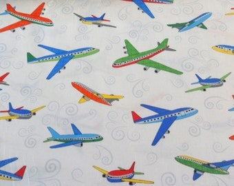 Plane Fabric Airplanes Material Benatrex Fabric Cotton Fabric Planes for Pilots City Construction