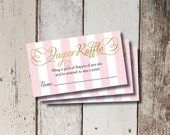 Digital Printable Sugar & Spice Baby Shower Diaper Raffle Cards INSTANT DOWNLOAD