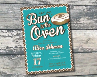 DIY Printable Bun in the Oven Baby Shower Invitation