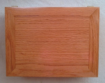 Souvenir Keepsake Box Solid Oak Body Gloss Finish Handmade in Chattanooga TN