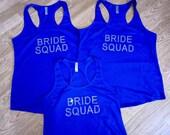 3 Bride Squad shirt. Bride's Squad Flowy shirt.  Bridesmaid shirts. Ladies Bride's Squad Shirt. Small, Medium, large, XL, XXL, 2x, 3x