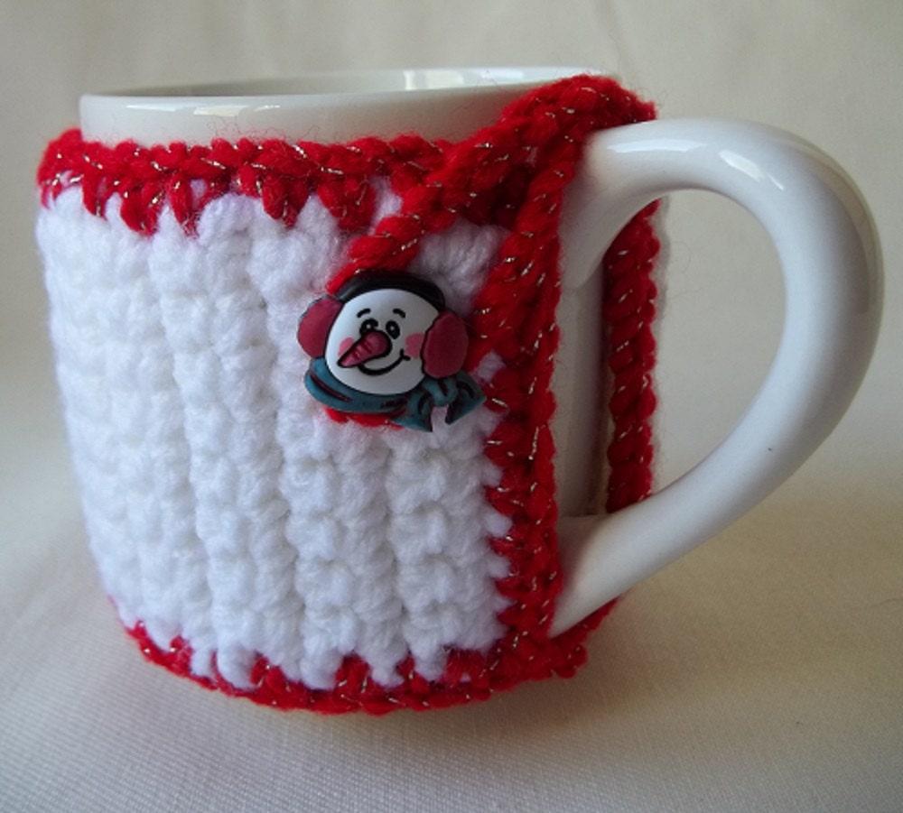 Snowman Mug Cozy Christmas Mug Cozy Coffee Cup Wrap Crochet
