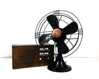Vintage GE oscillating fan
