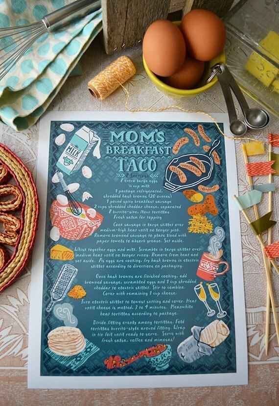 Custom order- Family recipe- Archival print