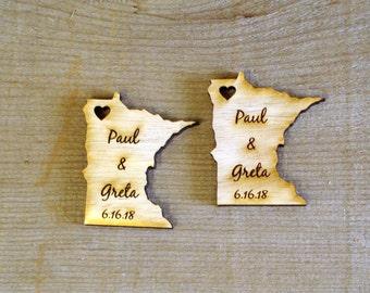 25 Minnesota Wedding Favors Custom Engraved