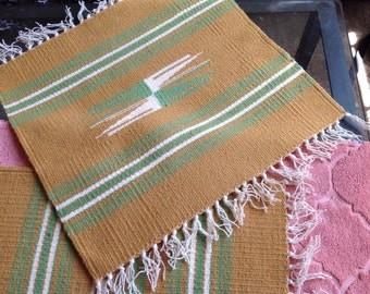 Pair of two chimayo wool matts or runners