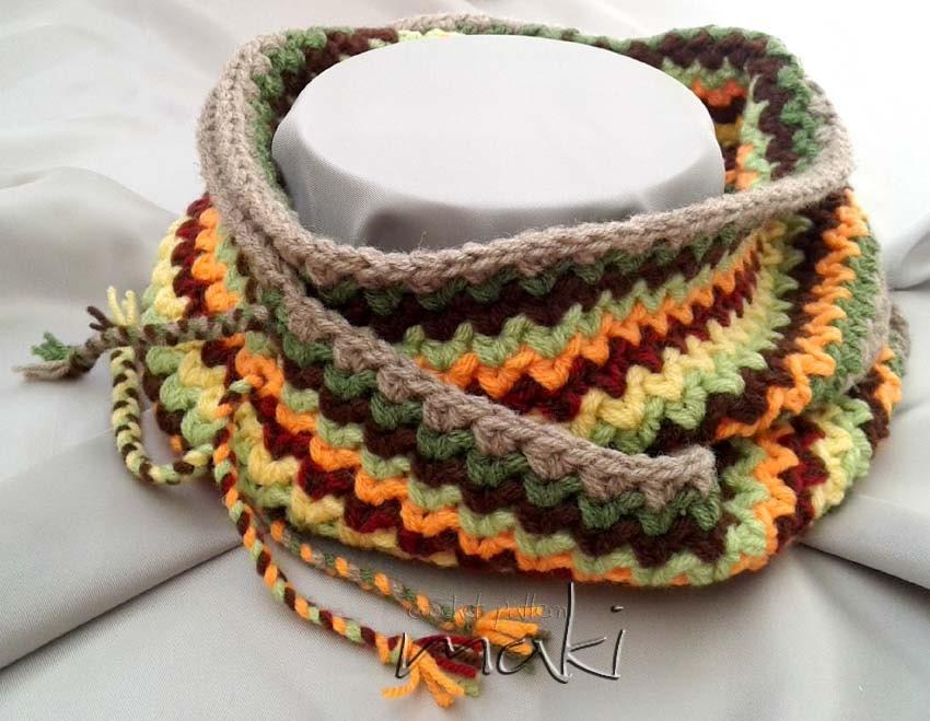 Crochet Infinity Scarf Pattern Ripple Scarf Pattern In 5 Sizes