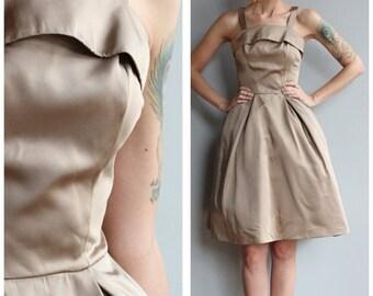 Sale 1950s Dress // Champagne Fizz Party Dress // vintage 50s dress