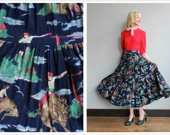 1990s Skirt // Ranch Hand Cowboy Skirt // vintage 90s skirt