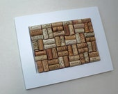 Wine Cork Bulletin Board - WHITE reclaimed wood - recycled corks - memo board - reclaimed cabinet door