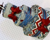 Baby Diaper Cake Vintage Airplanes Boys Centerpiece Gift
