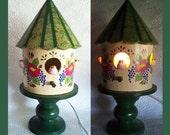 Three Chicks Birdhouse Night light Lamp