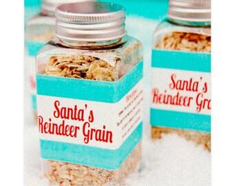 """Reindeer Games """"Reindeer Grain"""" Labels by Loralee Lewis"""
