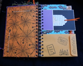 Junque Journal- Junk Journal - Smash Halloween- Halloween Book - OOAK (1)