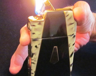 Vintage Cigarette Case Lighter Art Deco 1930s Marathon Cigarette Case Enamel Case Lighter Slide A Lite MINT UNUSED WORKING