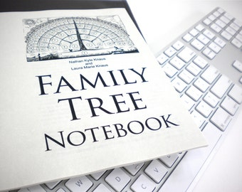 Family Tree Notebook Ebook pdf-fill-in-blank-template gifts for mother father him her baby men women grandparents in-laws children