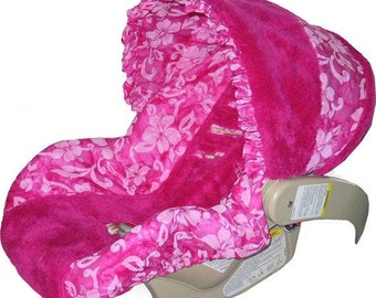 SALE - Baby Car Seat Cover, girl car seat cover, infant car seat cover  -Ships Today