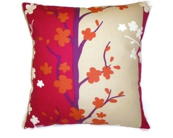 "Pinky Red Pillow Designer Cushion Cover Color choices Throw Scatter Pillow. ONE x 16"" (40cm)"
