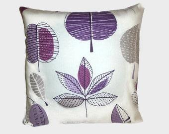 "Purple Pillow Grape Designer Cushion Cover Pillowcase Sham Slip Scatter Accent Pillow ONE x 16"" (40cm)"