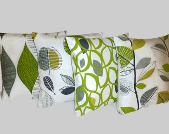 """PAIR  Cushion Pillow Covers Lime Green Decorative Throw 3 CHOICES Mix Match Funky Designer Pillows Scatter Slips 16"""" (40cm)"""
