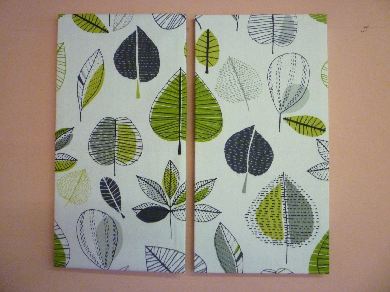 Wall art big floral lime green fabric funky retro designer for Lime green wall art