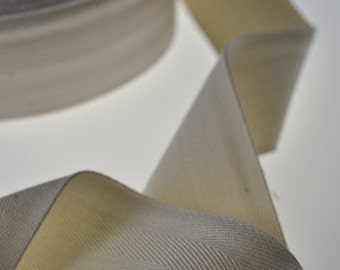 """Twill Tape, 100% Organic Cotton, Natural (undyed), Sold by the Yard, 1.5"""" Wide"""