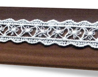 Organic Lace, 27mm wide, 100% Organic Cotton, Natural (undyed)