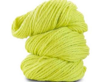 Organic Cotton Yarn Worsted, 150 Yards, Lemongrass