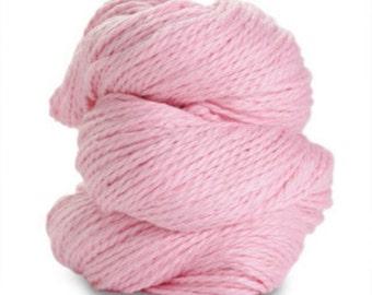 Organic Cotton Yarn Worsted, 150 Yards, Pink Parfait