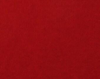 "Felt Sheet 8""x12"" 1mm Thick, 100% Merino Wool, Crimson"