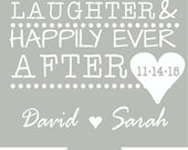 Love and Laughter  wedding Can Coolersdesign 160990028 personalized lot custom beer can party favor  - Stock Art
