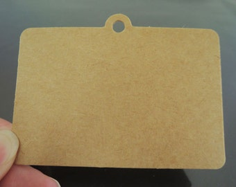 Kraft Paper Tags - 50pcs Kraft Tags Rectangle Tag Price Tags Hang Tags Gift Tags Brown Tag Plain Tags with Hole 7.5cm x 5cm