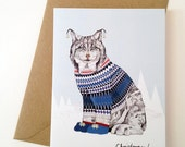 Christmas Lynx // Blank Greeting / Christmas Card