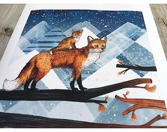 Fox Wood // Signed A4 print