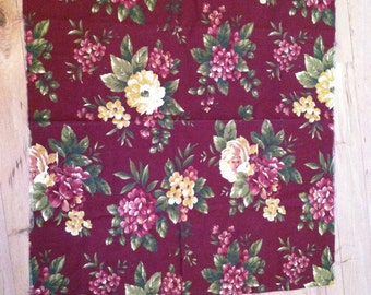 """41 1/2"""" by 36""""cotton floral fabric panel"""