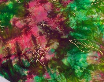 Hand Dyed Fall Inspired Hand Painted Leaves Play Silk ~Waldorf Inspired~