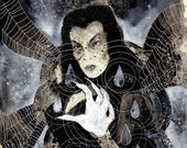 Vampira (original black and white drawing)