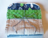 Baby Boy Burp Cloth Set of 3 - Greatest Adventure Camping Woods Arrows Navy Taupe Green Chenille Rag Quilted