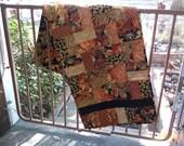 Fall bricks quilted table runner autumn runner