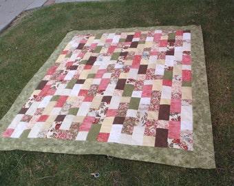 Unfinished floral quilt top floral quilt top