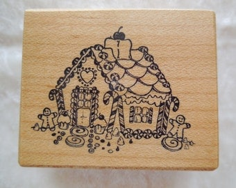 Never Used,  PSX Rubber Stamp Gingerbread House Stamp F397,  Gingerbread House Stamp