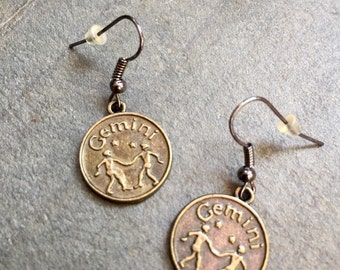 Gemini Horoscope jewelry, Gemini Zodiac Earrings, Gemini Astrology jewelry, Fun zodiac  gift, Jewelry with a meaning, Gemini jewelry