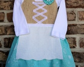 Winter inspired snowflake baby dirndl (German dirndl dress, girl dirndl, baby dirndl)