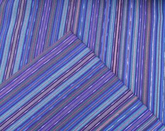 Guatemalan Fabric in Royal Blue Stripes